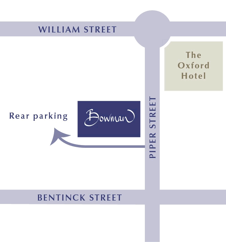 Map to Bowman Dental